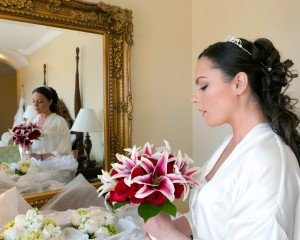 Bride before wedding